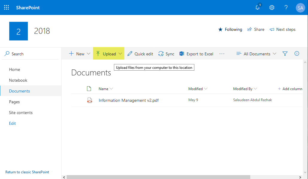 sharepoint online powershell upload file to document library
