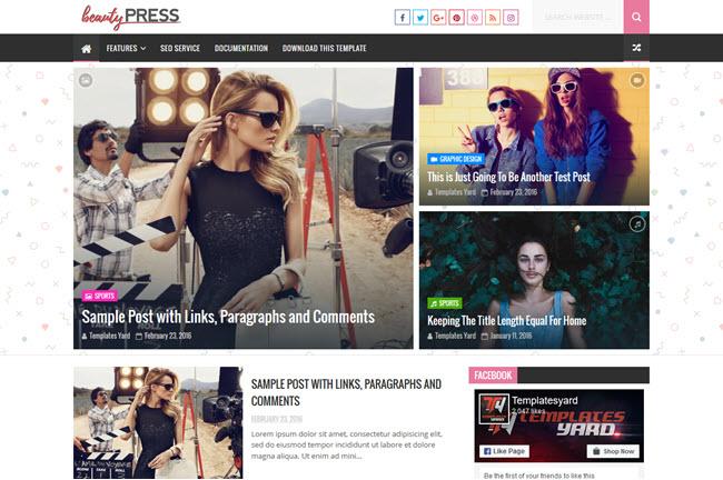 BeautyPress - Responsive Blogger Template