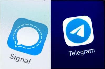 مقارنة, بين, تطبيقي, الدردشة, والمحادثات, سيجنال, وتليجرام