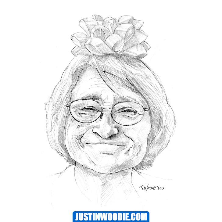 Rose Grannie Illustration