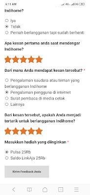 Survei Online Indihome