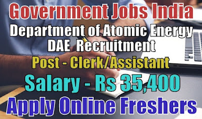 Department of Atomic Energy Recruitment 2018