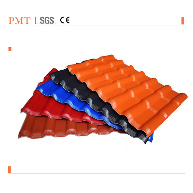 PVC Synthetic Resin Tile Production Line, PMT-The revolutionaries and leader in the plastic machinery tech, Synthetic Resin Roof Tile Extrusion Machine ; Plastic Roofing Sheet Making Machine Price In China Manufacturers,