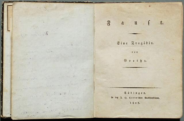 Primeira edição de Faust, eine Tragödie, de 1808.
