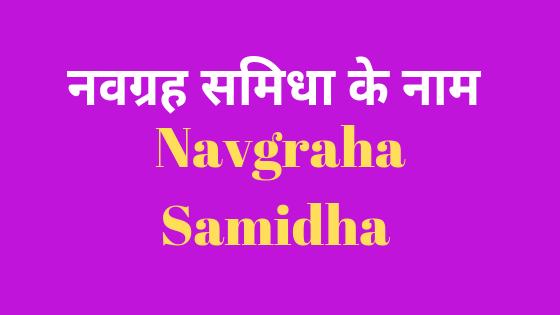 नवग्रह समिधा के नाम | नवग्रहों को प्रसन्न करने के लिए करे इस लकड़ियों से हवन | Navagraha Samidha |
