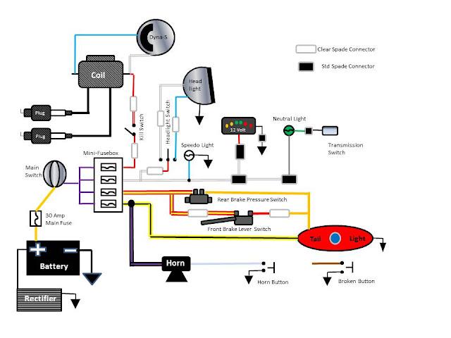kickstart shovelhead chopper wiring diagram
