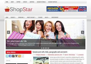 ShopStar Blogger Template