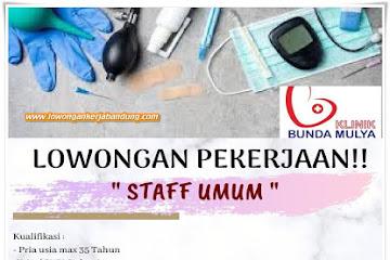 Lowongan Kerja Bandung Staff Umum Klinik Bunda Mulya
