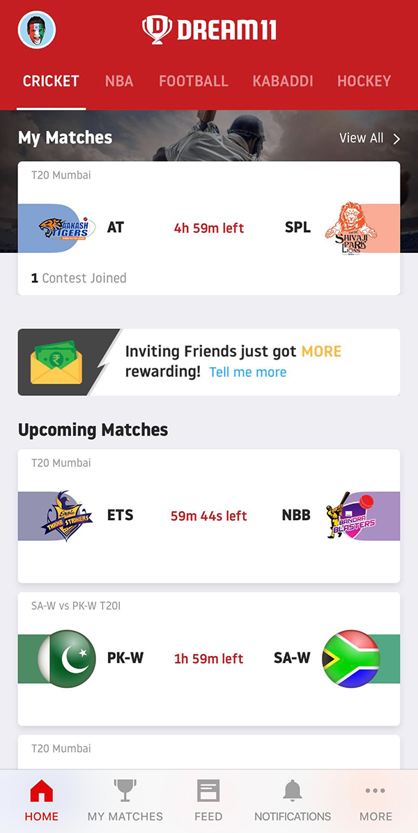 DREAM11 Refer/Earn– Get Free Rs  100/Signup + Rs  100/Refer