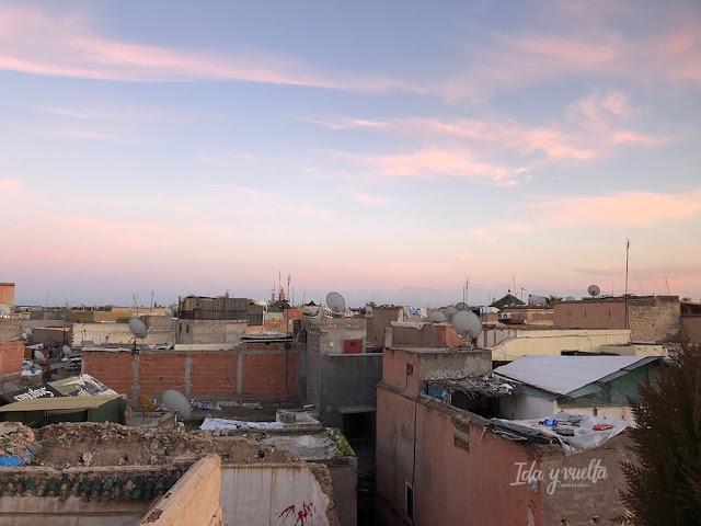 Atardecer en el norte de la Medina