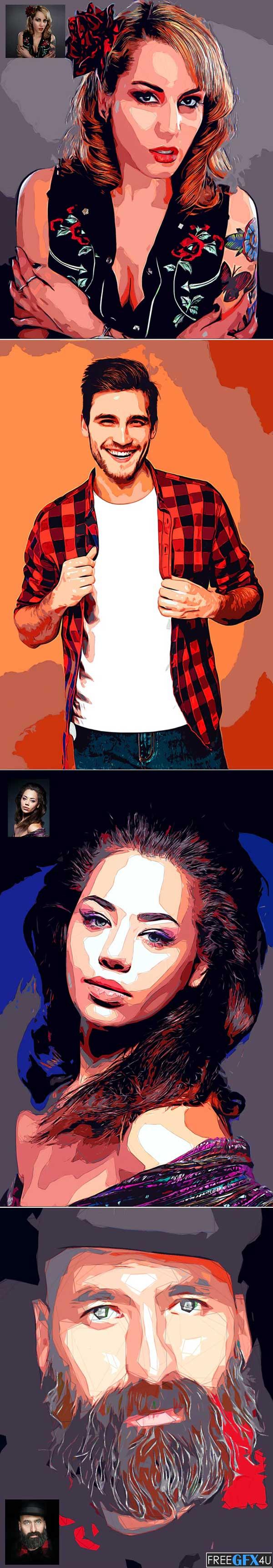 Color Cutout Photo Effect