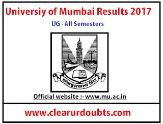Mumbai University results 2017 UG