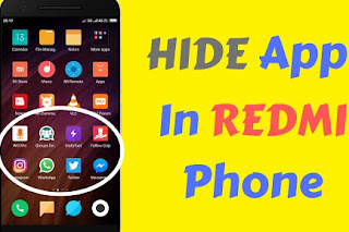 Hide any application on your phone, No need to install any application