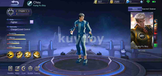 Script Skin Mod Painted Chou Mobile Legends Terbaru