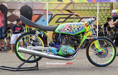 Modifikasi Drag Yamaha RX KING