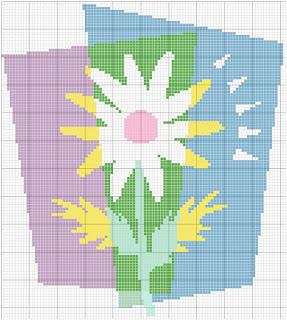 Gráfico ponto cruz Flor