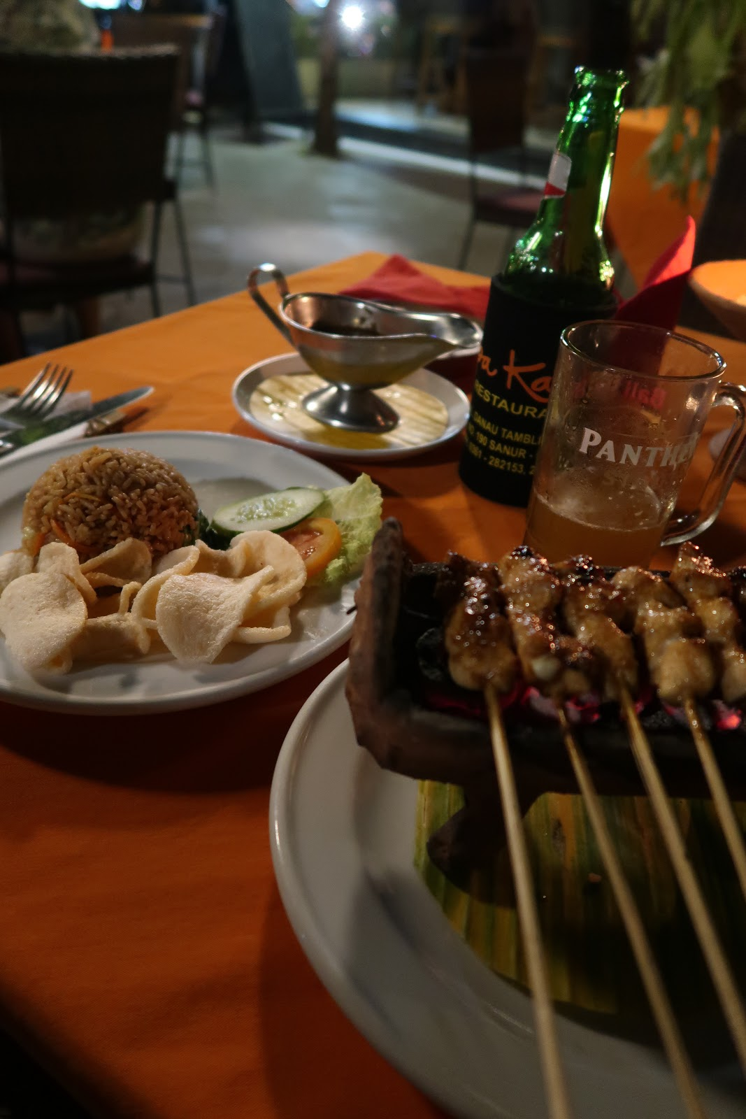 Satay Chicken at Apa Kabar Restaurant Review in Sanur, Bali on UK Lifestyle & Travel Blog WhatLauraLoves