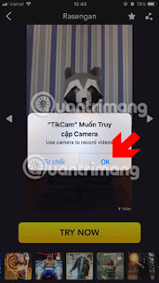 Try TikCam video recordingAllow TikCam to access the camera