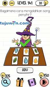 Level 141 jawaban bagaimana cara mengalahkan sang penyihir? brain test