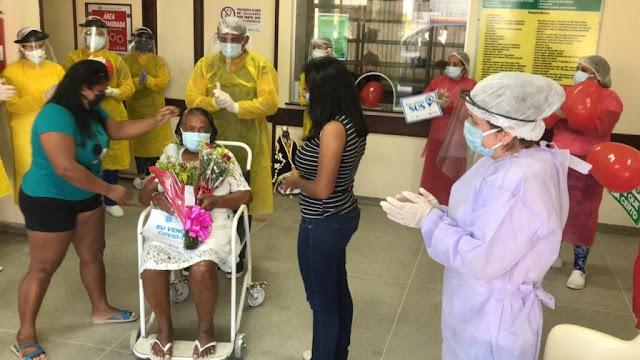 Após passar 10 dias entubada, paciente vence a Covid-19 e recebe alta no Hospital Regional de Pombal