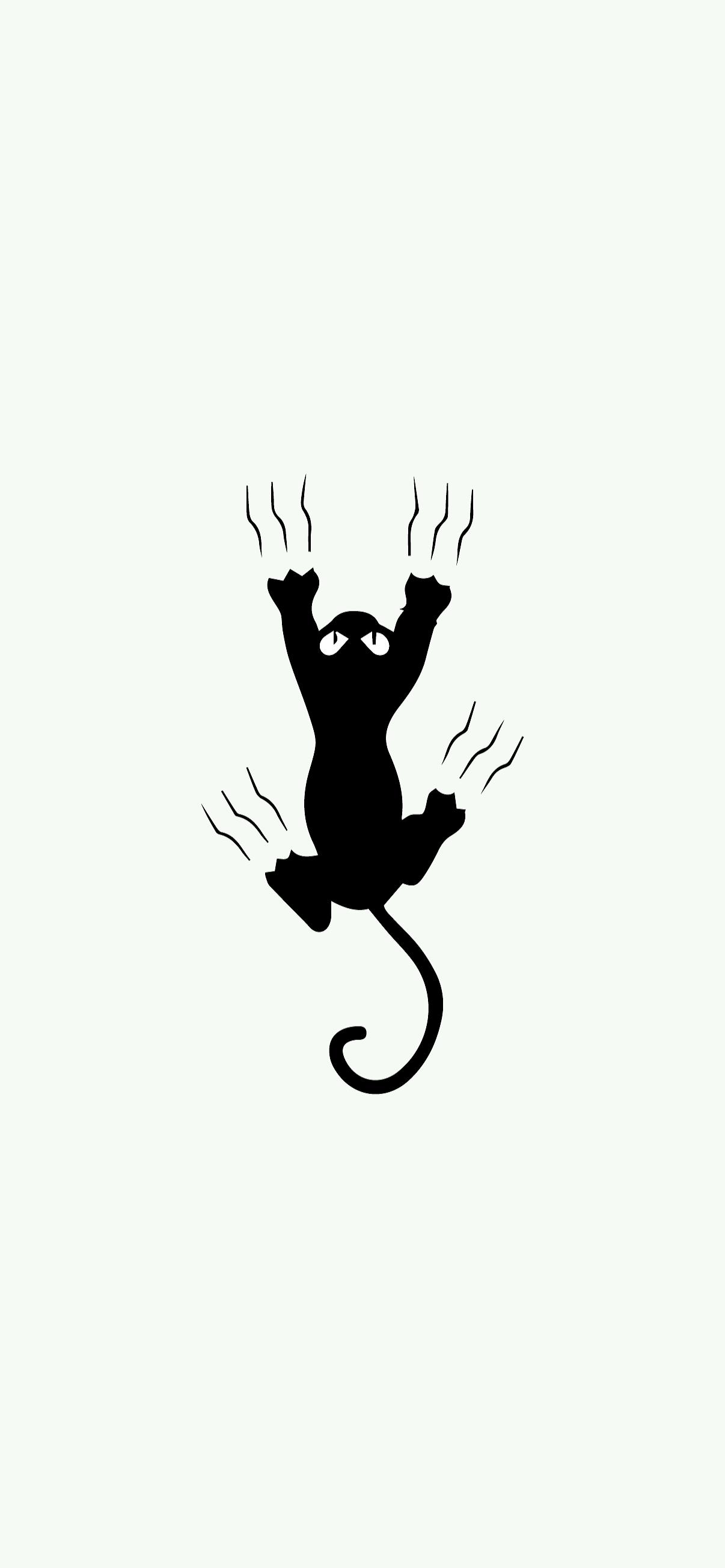 cat scratching minimalist wallpaper hd for phone