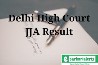 Delhi High Court JJA Result 2017