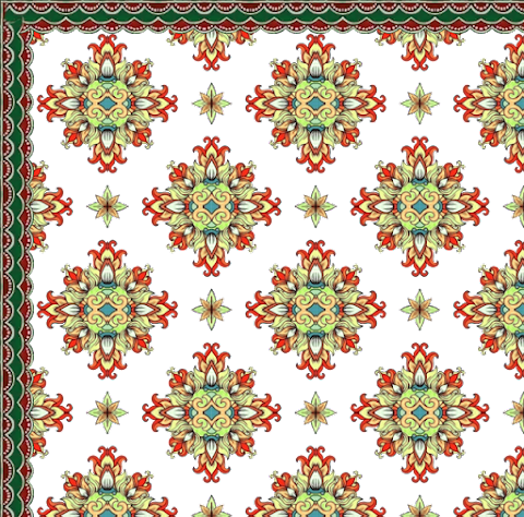 Textile Design Flower Art Design Textile Print 2360