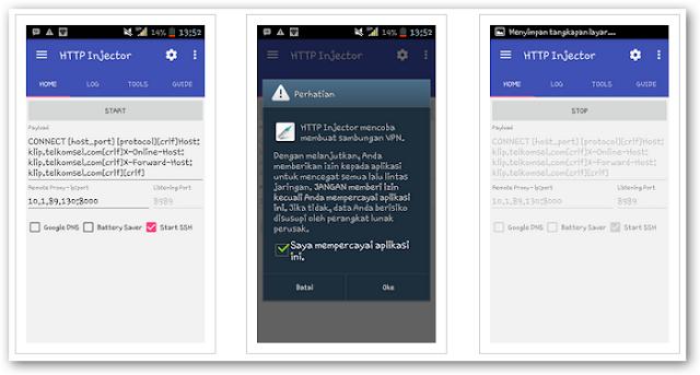 Trik Internet Gratis 2016 Menggunakan HTTP Injector di Android