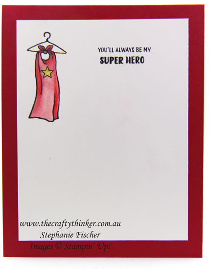 www.thecraftythinker.com.au, Everyday Hero, Valentine's Day Card, #thecraftythinker, Stampin Up Australia Demonstrator, Stephanie Fischer, Sydney NSW, Cartoon stanp set