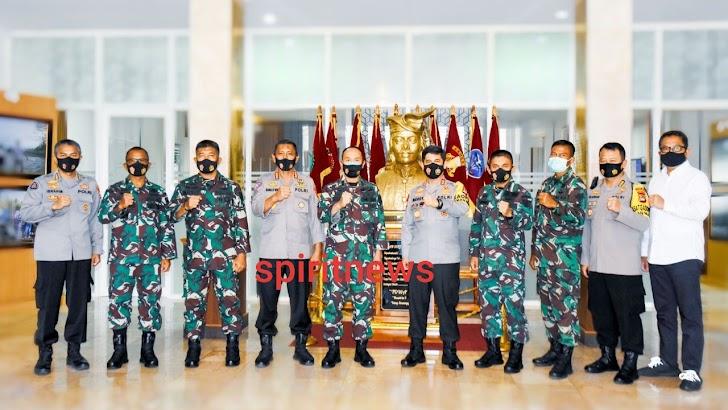 Pangdam Hasanuddin Terima Audiensi Kapolda Sulawesi Selatan