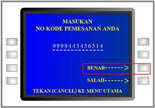 Cara Bayar Tiket Kereta Api Via ATM