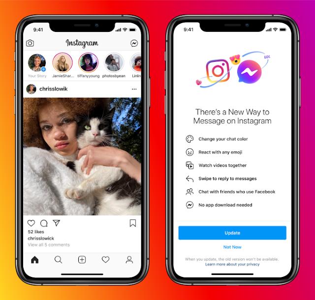 Facebook Twistically Merged Instagram DM to Messenger