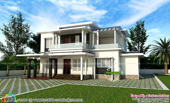 Contemporary house by Vinzircon Builders