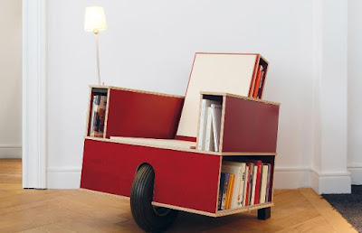 Mobile Bookshelf Chair