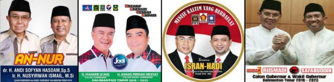 Pasangan calon Gubernur dan wakil Gubernur provinsi Kalimantan Timur (Kaltim) 2018