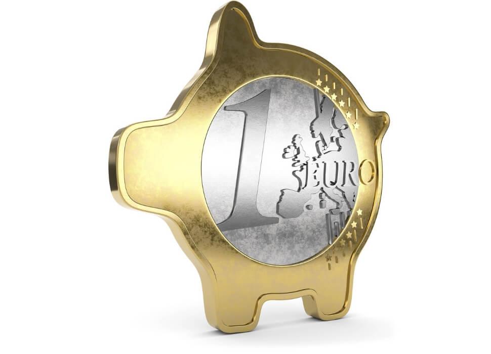 euro munt als spaarvarken