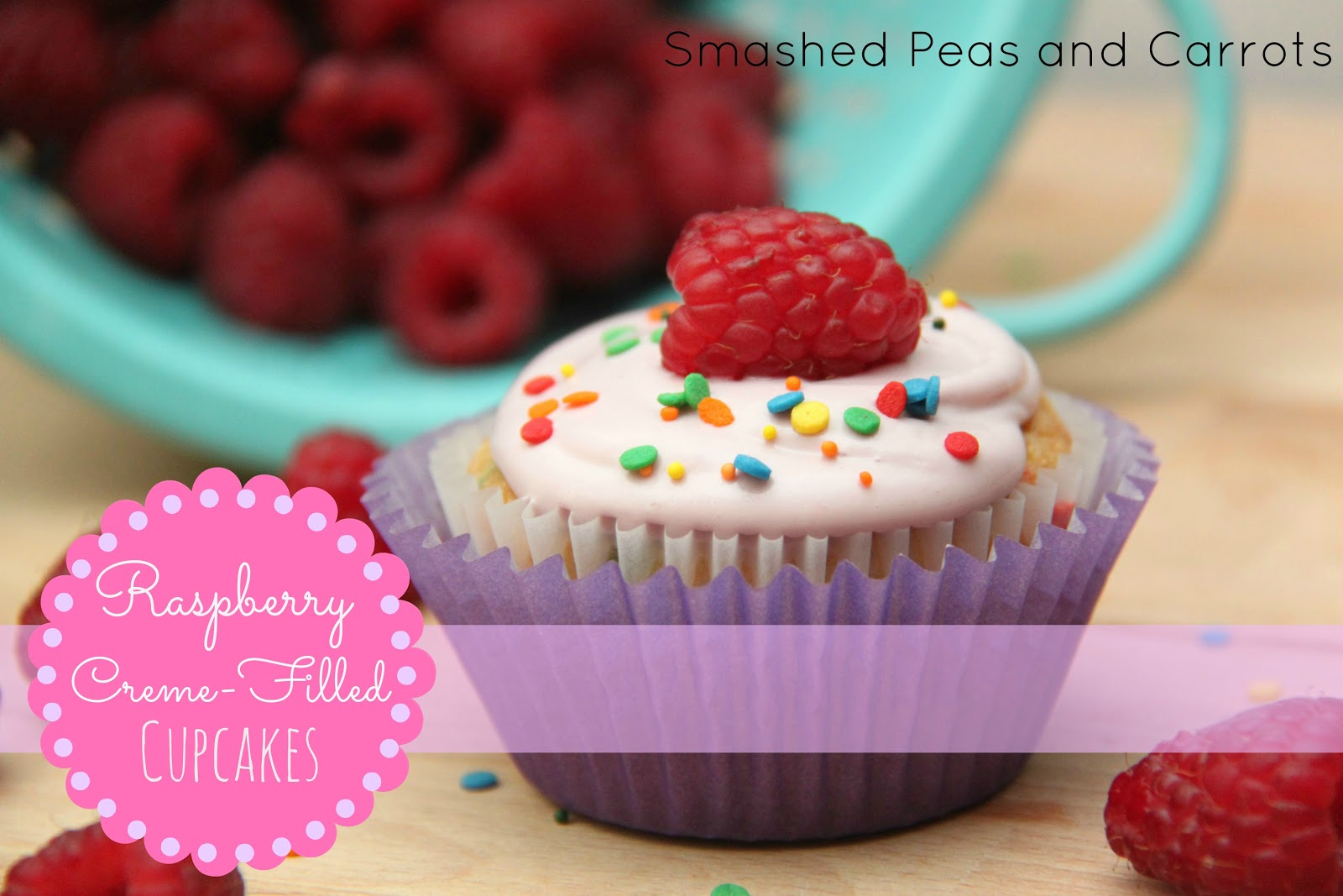 Raspberry Creme Filled Cupcakes