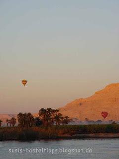 Heißluftballons am Nil: Foto von unabhängiger Stampin' Up! Demonstratorin Susanne McDonald