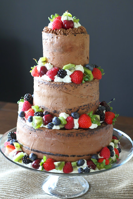 Mennonite Girls Can Cook Chocolate Tiered Cake With Berries