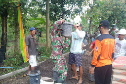 TMMD Bangkitkan Semangat Gotong Royong Kemanunggalan TNI Dengan Rakyat