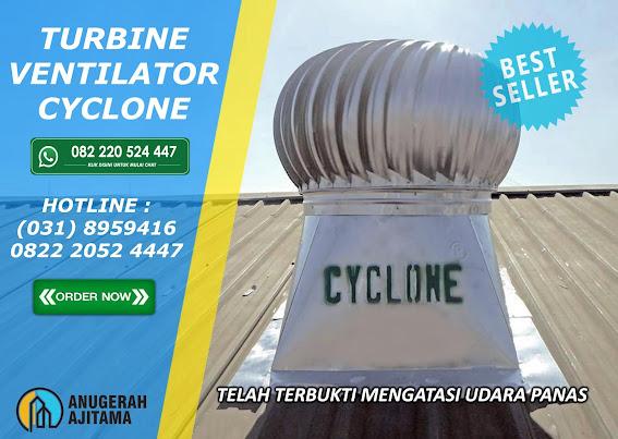 Turbin Ventilator Cyclone Saat Hujan