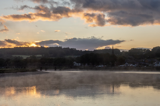 Photo of mist on the River Dee at sunrise on Thursday morning