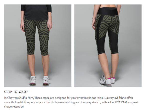 lululemon clip in crop