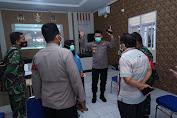 Kapolres Metro Bekasi Cek  Posko PPKM Mikro di Desa Sukadami