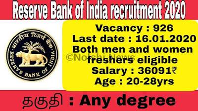 R.B.I. (Reserve Bank Of India) Assistant Recruitment 2020 Online