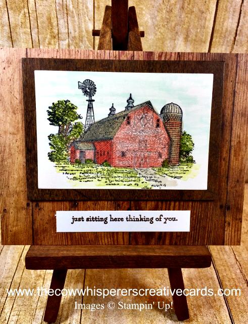 Card, Clean & Simple, Heartland, Barn