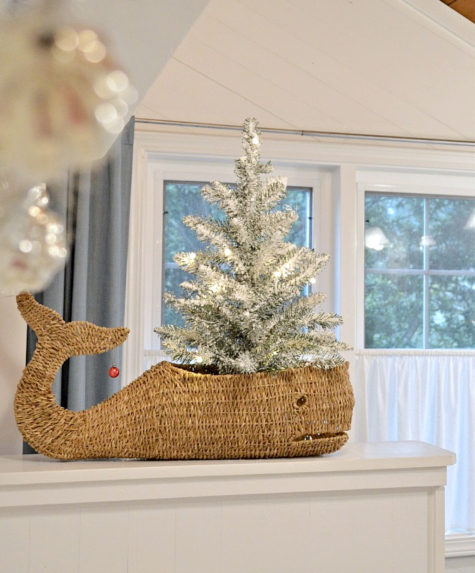 Christmas Tree in Whale Basket