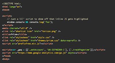 Cara Membuat Syntax Highlighter dengan Javascript di Blogger