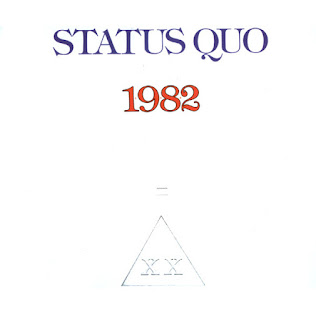 Album cover for Status Quo's 1982 release: 1+9+8+2