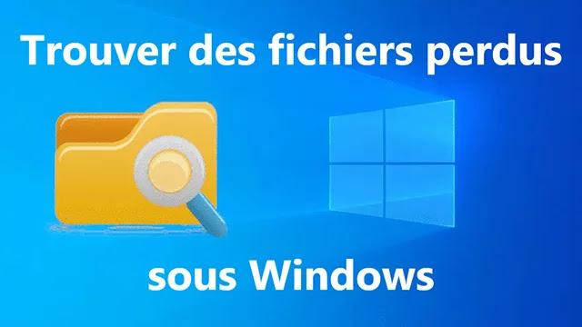 Meilleurs solutions pour retrouver fichiers perdus sous Windows.